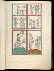 Events From The Book of Exodus, In James Le Palmer's Encyclopaedia 'All Good Things' f.5r